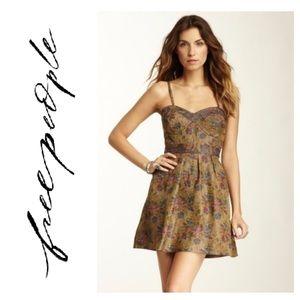 Free People Foiled Jacquard Tapestry Mini Dress